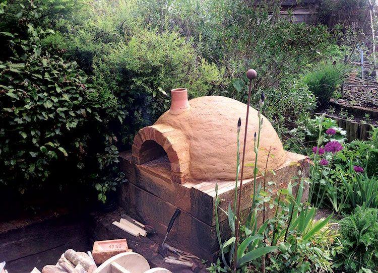 Construire Four Pizza Extérieur Terre Cuite Style Traditionnel