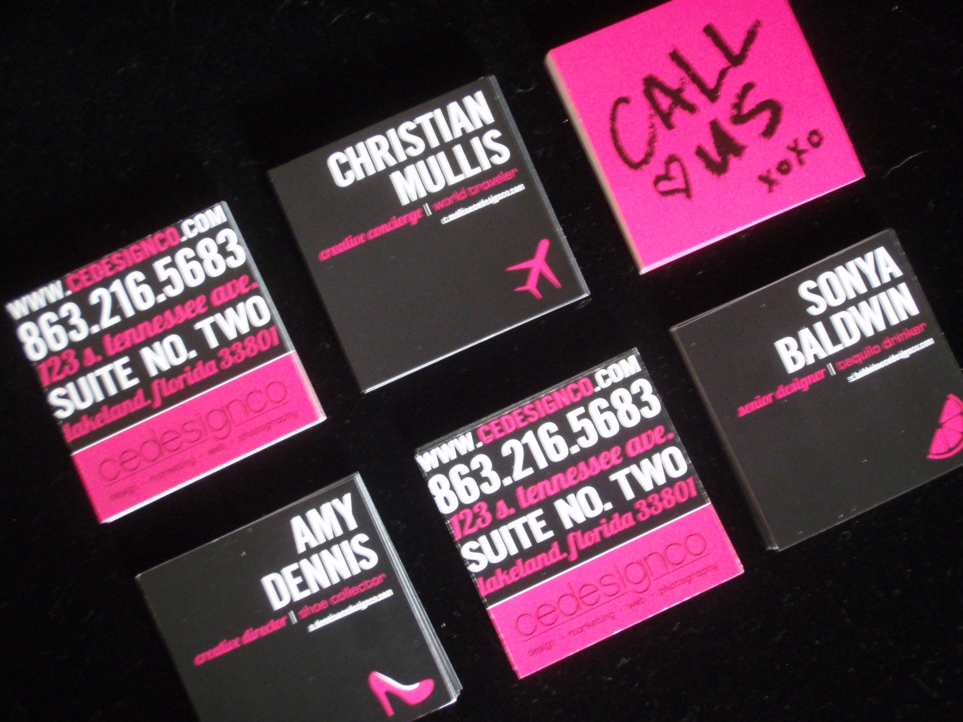 Hot pink & Black you can\'t go wrong #business #card #stationery ...