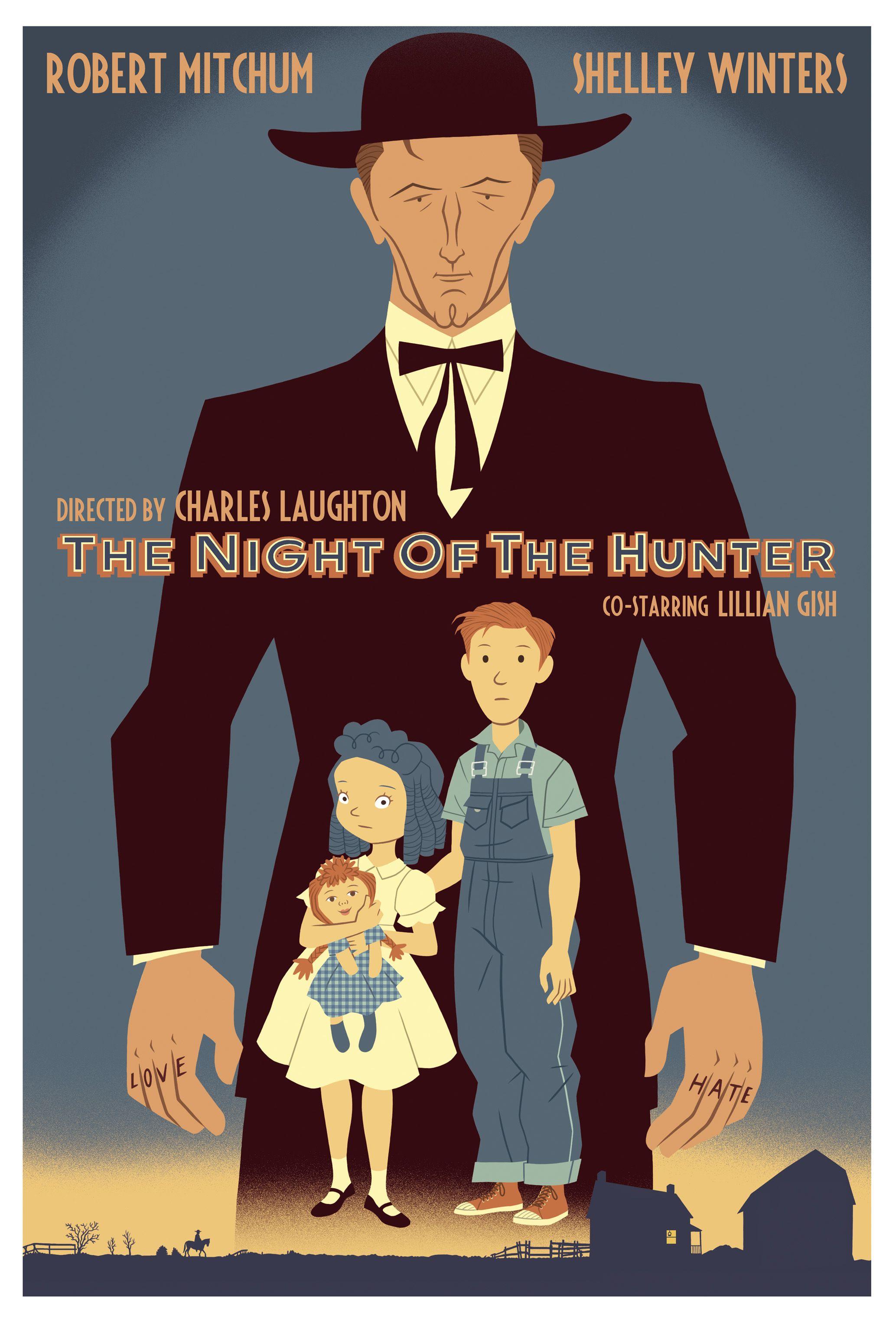 The Night of the Hunter poster. Alternative movie
