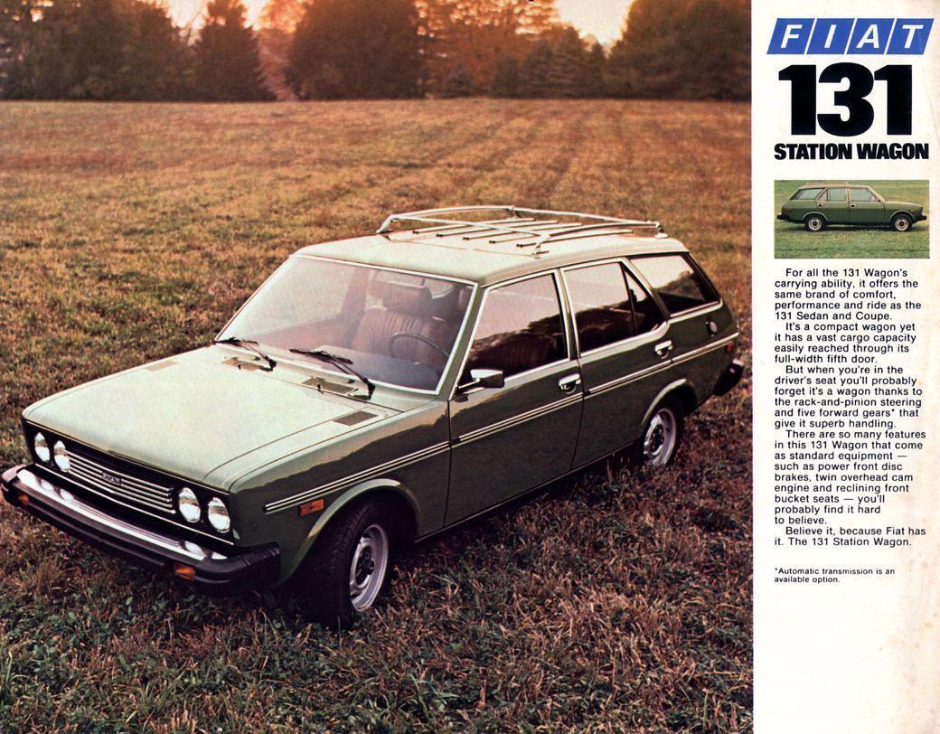 Fiat 131 Station Wagon Us Prospekt Brochure Ebay Station Wagon
