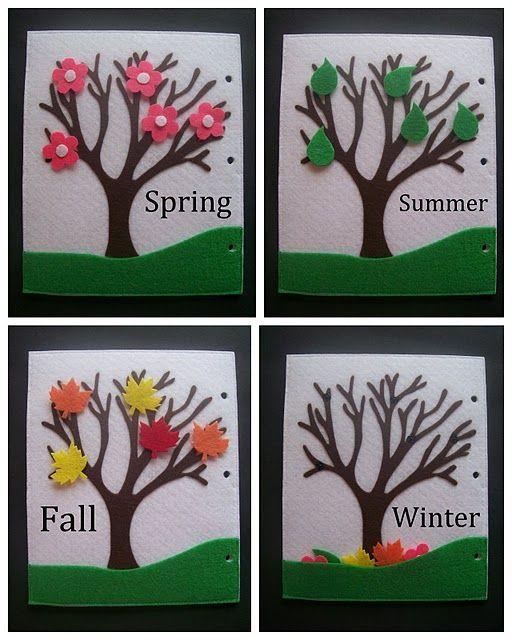 quiet books- seasons