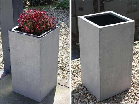 Pflanzkübel BLOCK, Fiberglas, Beton-Design | Pflanzkübel aus ...