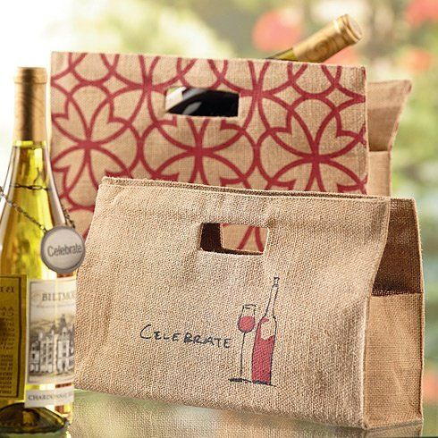 Biltmore Inspirations Jute Wine Purses With Celebrate Wine Design or  Architectural Design 2 Celebrate Wine Architectural Design     Click on the  image for ... ae53eb81b5