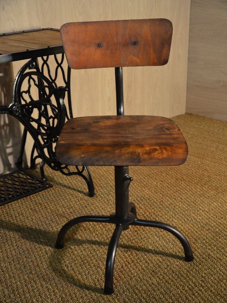 chaise d 39 atelier chaise bois et m tal meuble indus hewel assises chaises. Black Bedroom Furniture Sets. Home Design Ideas