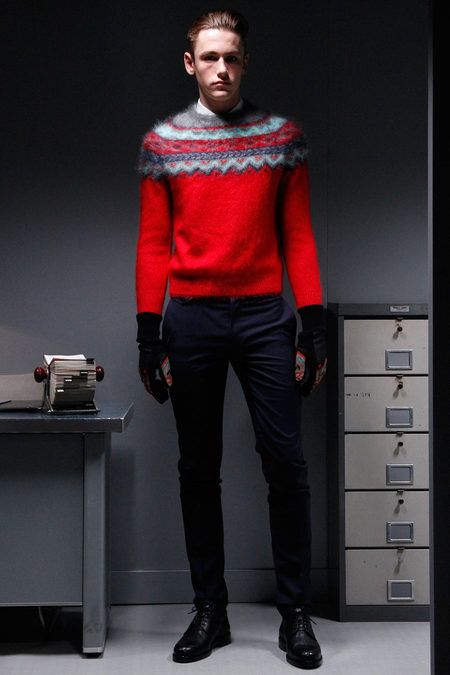Carven Fall 2013 Menswear Collection Slideshow on Style.com