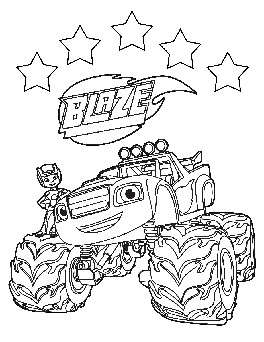 Blaze And The Monster Machines Coloring Pages Coloring
