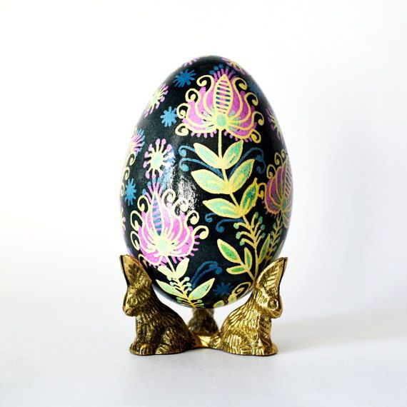 Gift for mom goose egg pysanka with beautiful flowers mothers day goose egg pysanka ukrainian easter egg batik art christmas and easter gifts buy negle Image collections