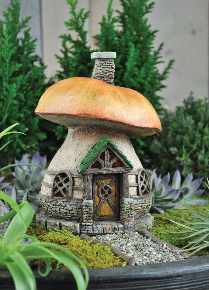 Awesome Georgetown Home And Garden Fairy #19 - Fiddlehead Mushroom Cottage Fairy Home / House - Diameter X Tall Georgetown  Home U0026 Garden