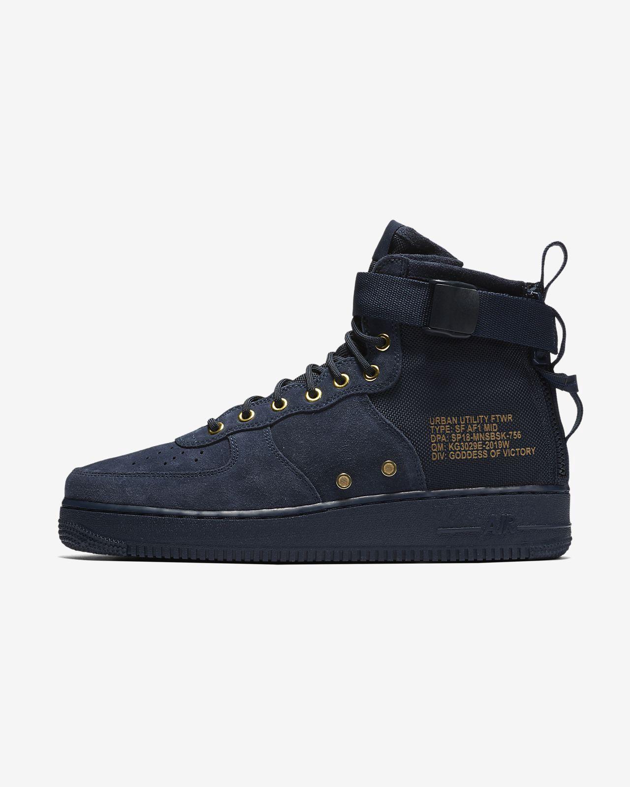finest selection 679da f3ca5 Nike Sf Air Force 1 Mid Mens Shoe - 10.5