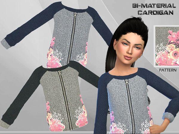 Bi-material Cardigan by Puresim at TSR • Sims 4 Updates