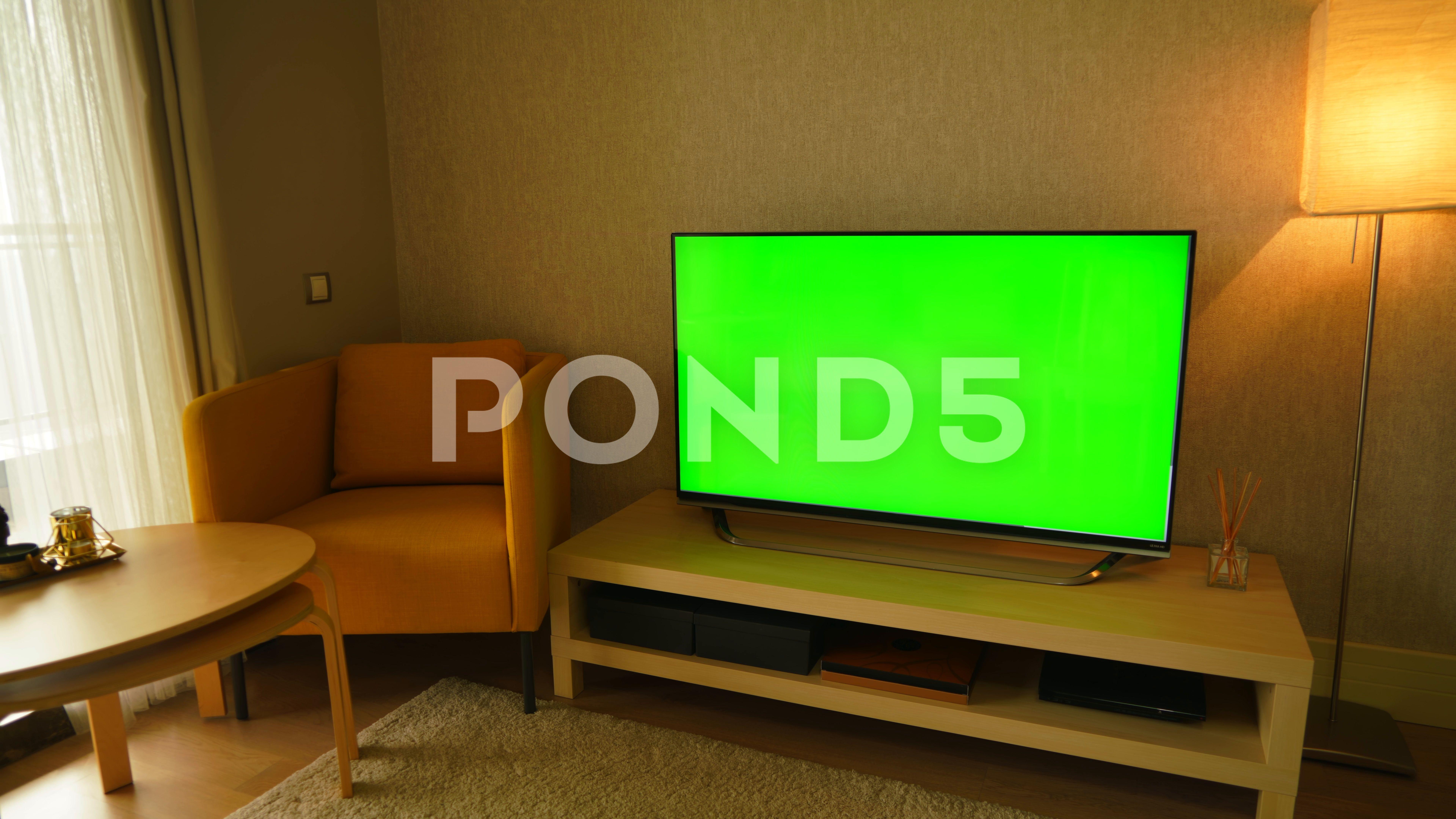 8k Green Screen Television 7680x4320 Ad Television Screen Green Footage Greenscreen Television Screen