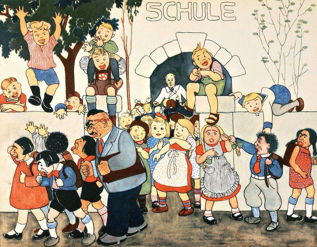 Illustration du livre pour enfants antisémite et de propagande \