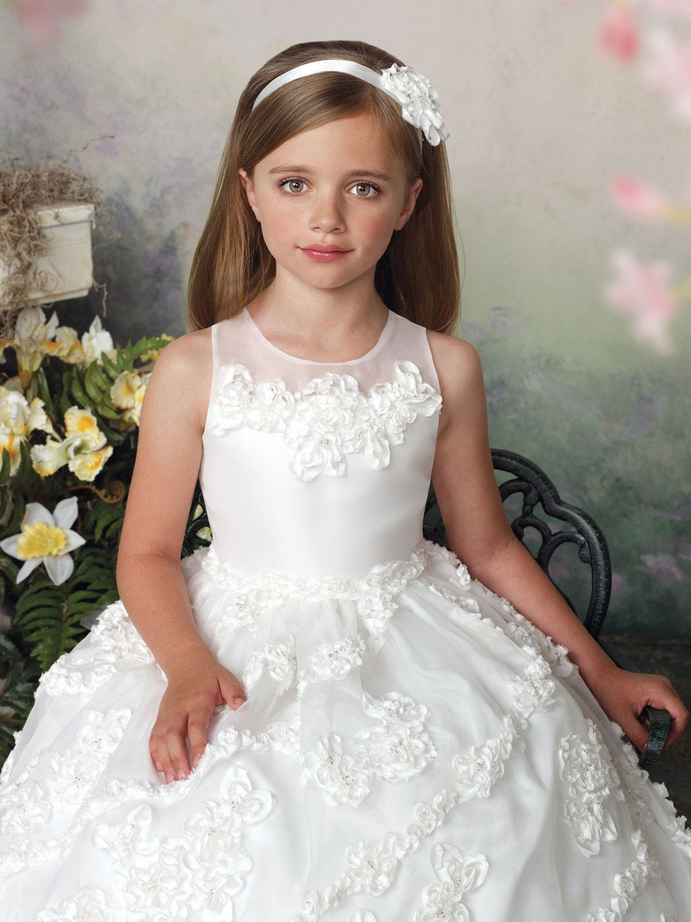 61 33 Ball Gown Jewel Sleeveless Ankle Length White Special Occasion Girls Dress Joan Calabre First Communion Dresses Holy Communion Dresses Communion Dresses [ 1333 x 1000 Pixel ]
