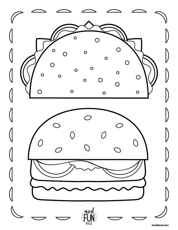 Free Printable Coloring Page Mealtime Favorites Free Printable