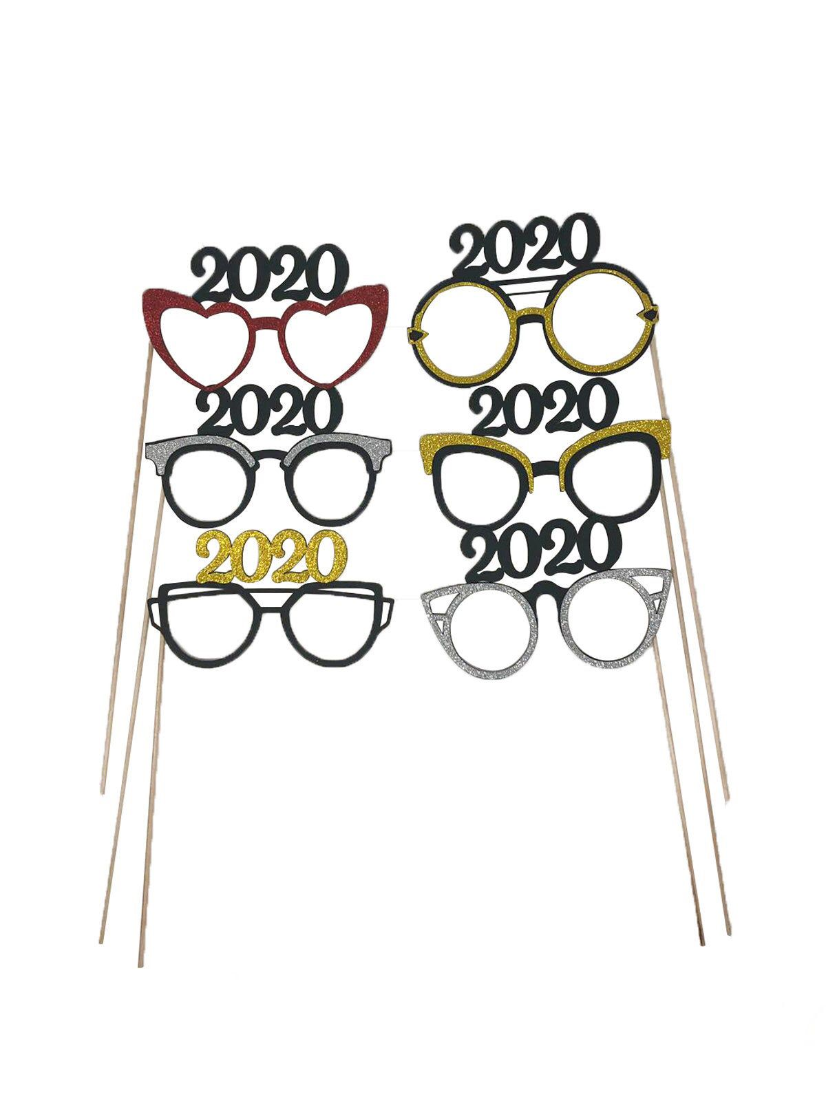 2020 New years photo booth glasses celebration New York