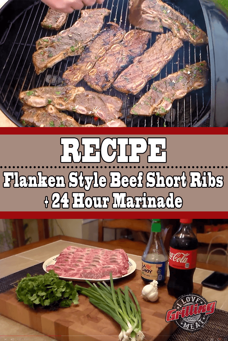 Beef Flanken Style Short Ribs 24 Hour Marinade Included Beef Short Rib Recipes Grilled Short Ribs Beef Flanken Ribs Recipe