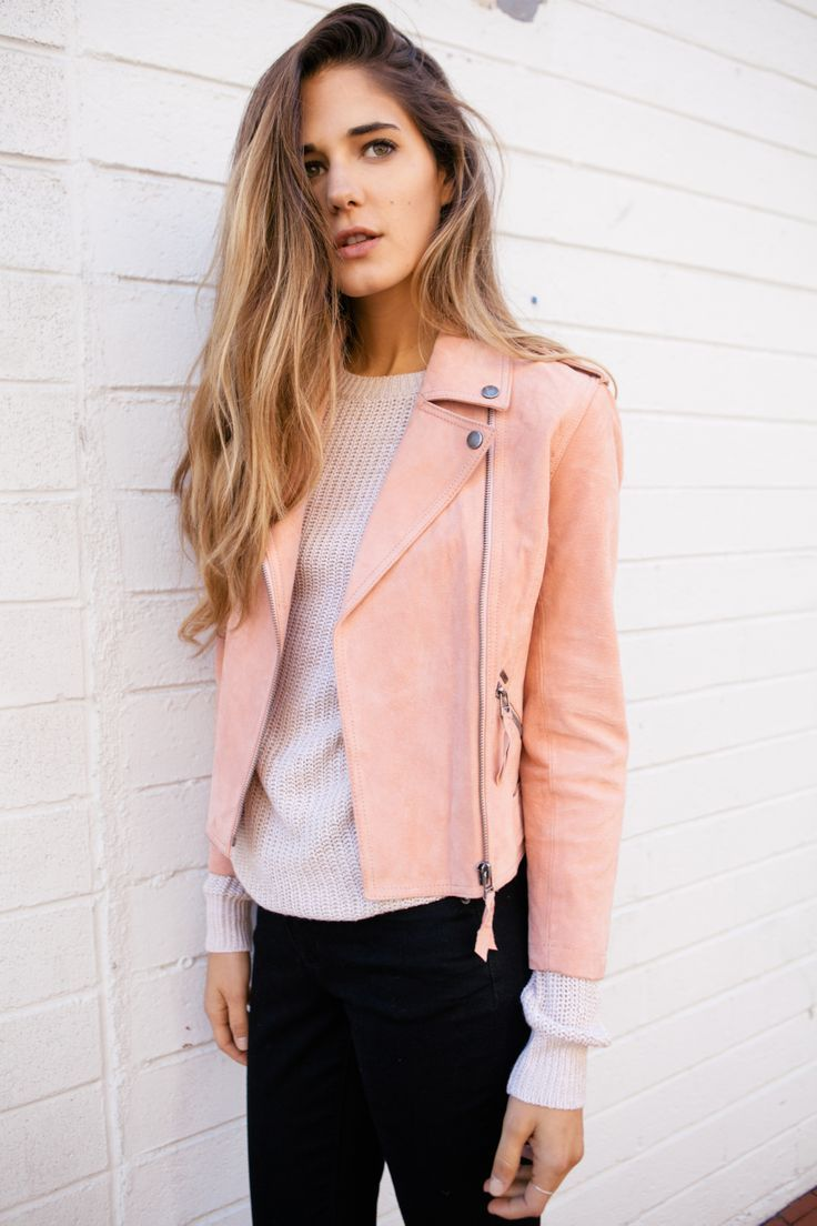 Suede Fashion Trends to Wear this Autumn | Pink leather, Leather ...