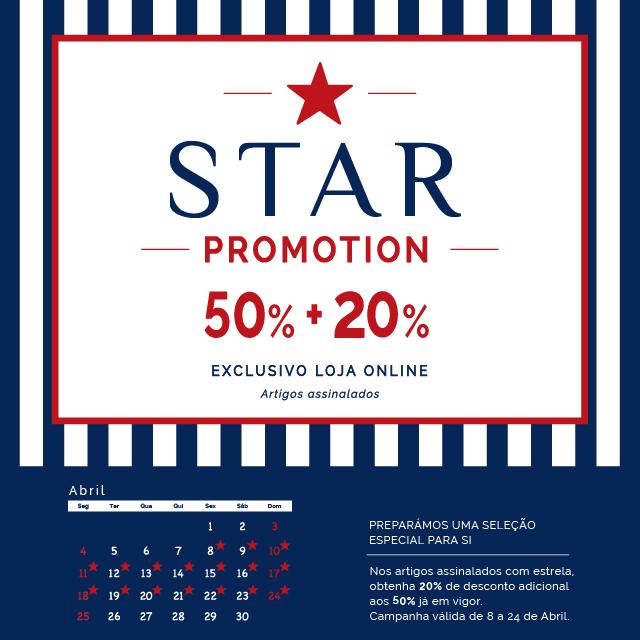 Star Promotion 50% + 20% Artigos assinalados com desconto especial. Exclusivo Loja Online Lion of Porches www.lionofporches.com