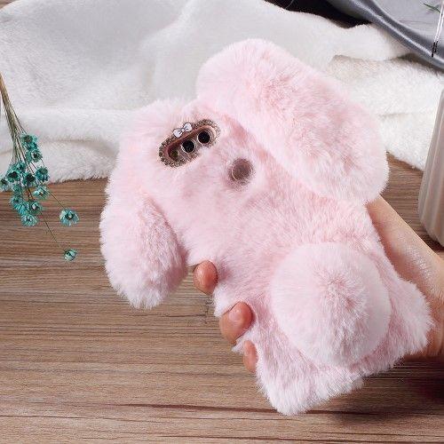 Coque Huawei Honor 7X Fourrure Bunny Case - Rose