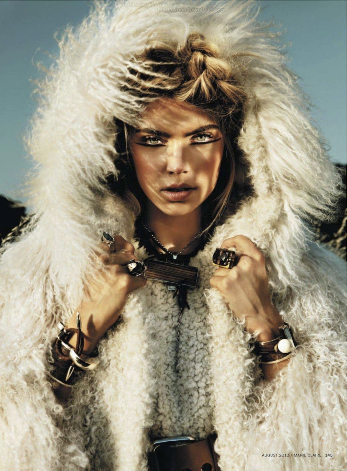 into the Wild | Emily Senko | Rennio Maifredi #photography | US Marie Claire August 2012 #bohemian #boho #hippie #gypsy