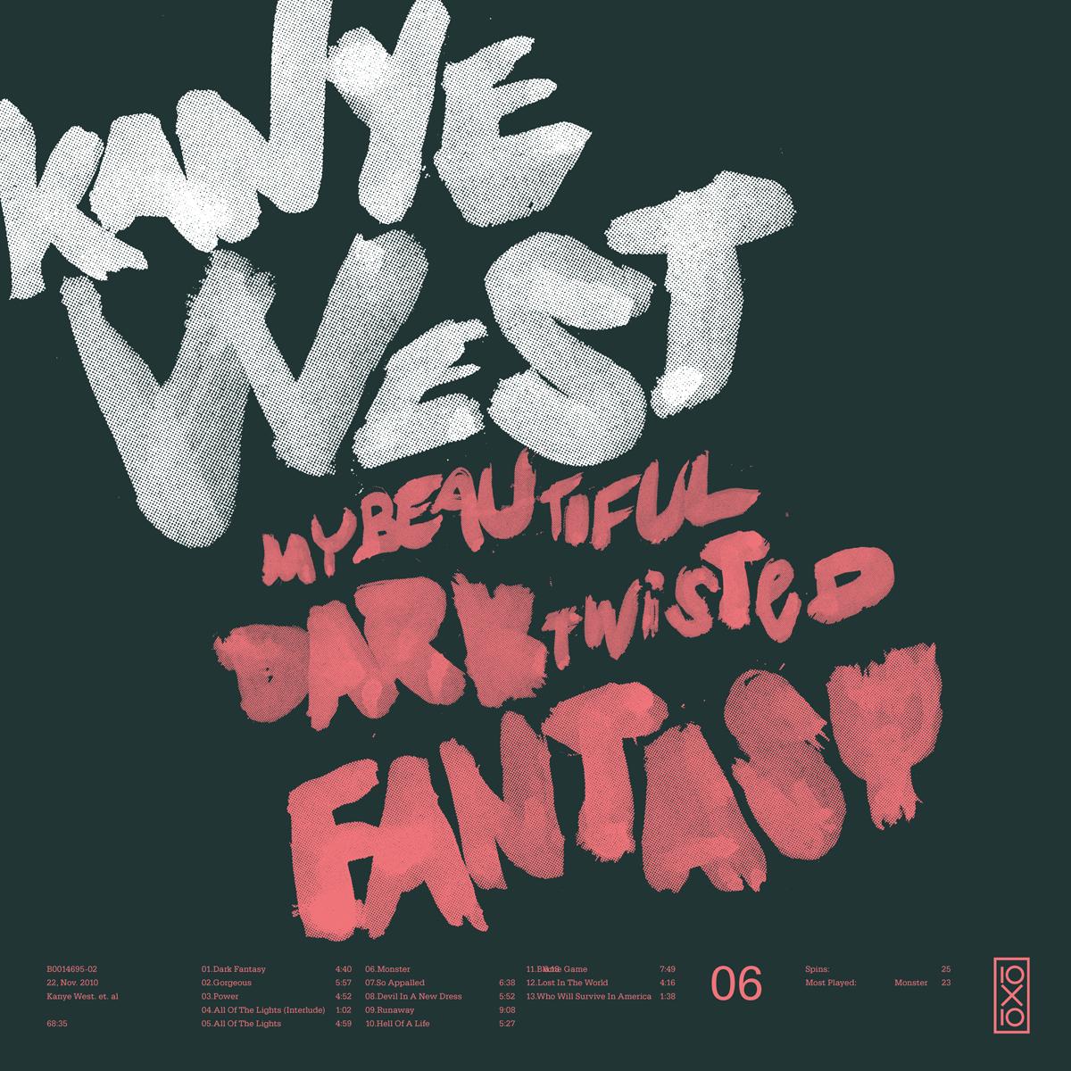 Kanye West Lettrage Graphisme Typographie