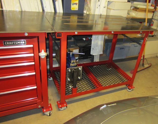 Another welding table workbench thread the garage for Garage modification