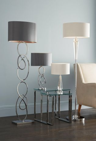 Add distinctive pieces into your home through floor and table lamps these sculptural pieces from