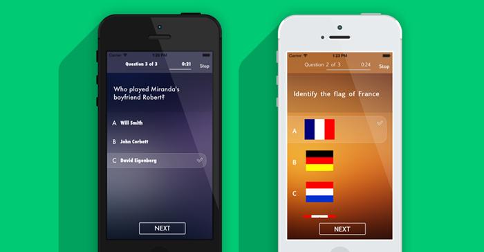 op quizmaker iphone and ios app ui design templates stuff to