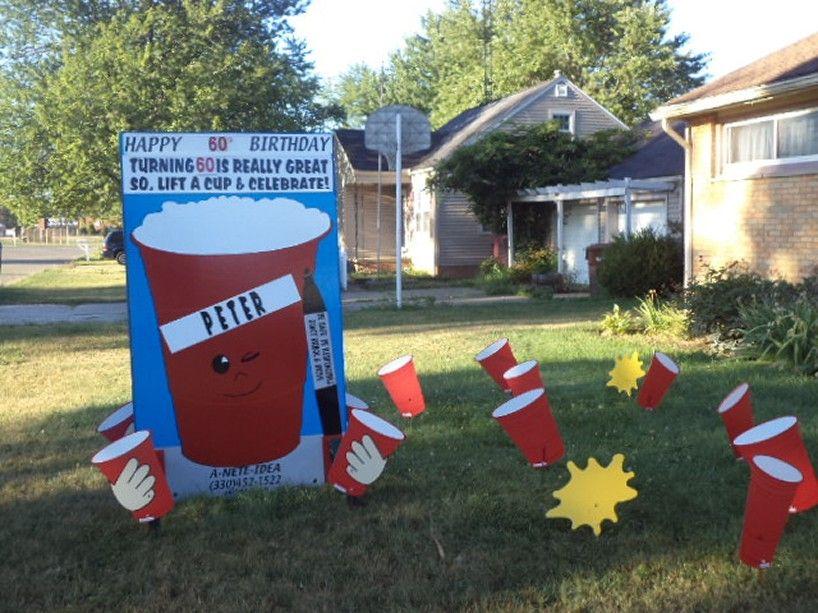 Birthday Displays Birthday yard signs diy, Happy