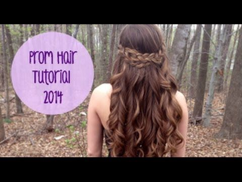 Simple Braided Hairstyles For Prom : A braided hairstyle with curls for prom: half up down hair