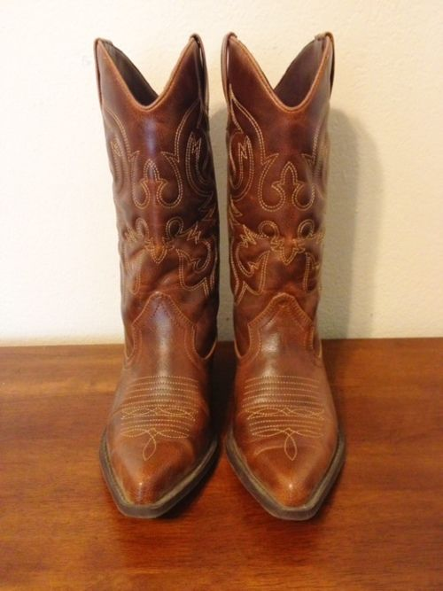 5a792db7d13 Steve Madden Brown Leather Cowboy Boots - just bought new boots! | I ...