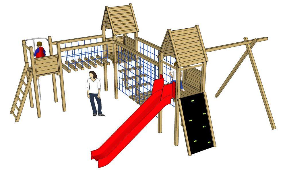 Module le sp cialiste du jeu en bois backyard for Module de jeu exterieur