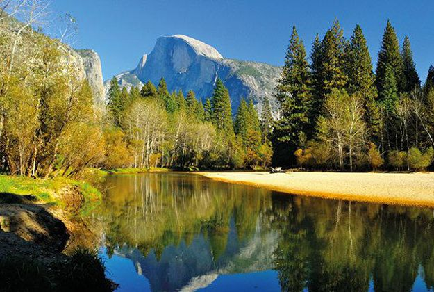 Yosemite's half dome is a popular challenge for keen hikers in the USA, but you