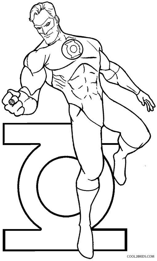 Printable Green Lantern Coloring Pages For Kids | Cool2bKids ...