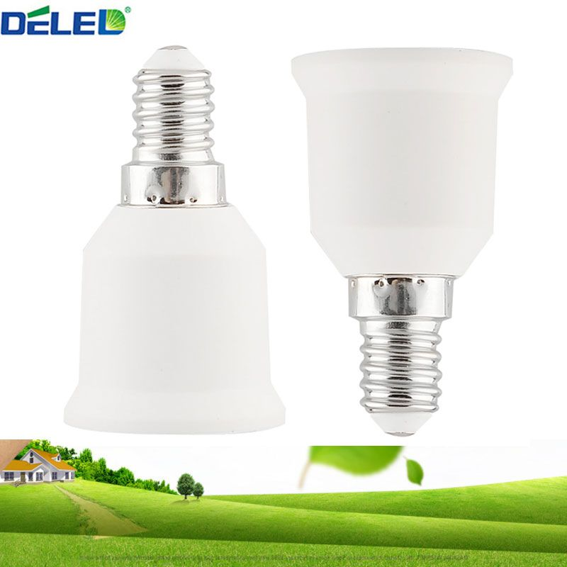 1pcs Lamp Holder Converters E14 To E27 Light Bulb Holder Adapter Led Bulb Use Socket Base Lighting Accessories Fami Light Accessories E27 Light Bulb Light Bulb