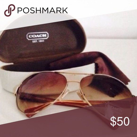 a6005723eb8 Coach aviator sunglasses with gradient tint