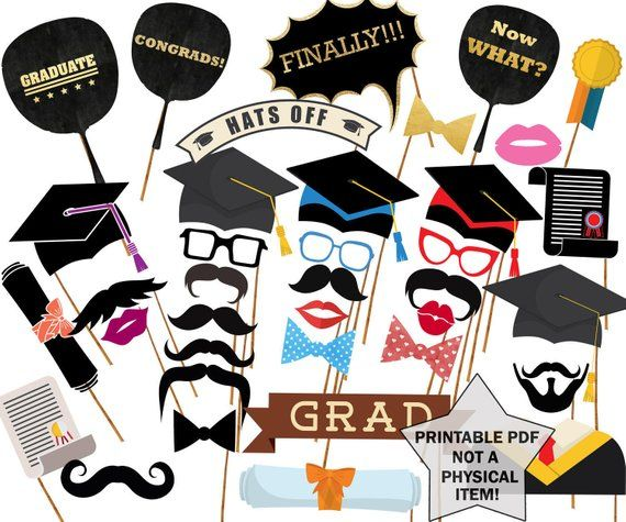 picture relating to Printable Graduation Photo Booth Props known as Commencement Image Props: \