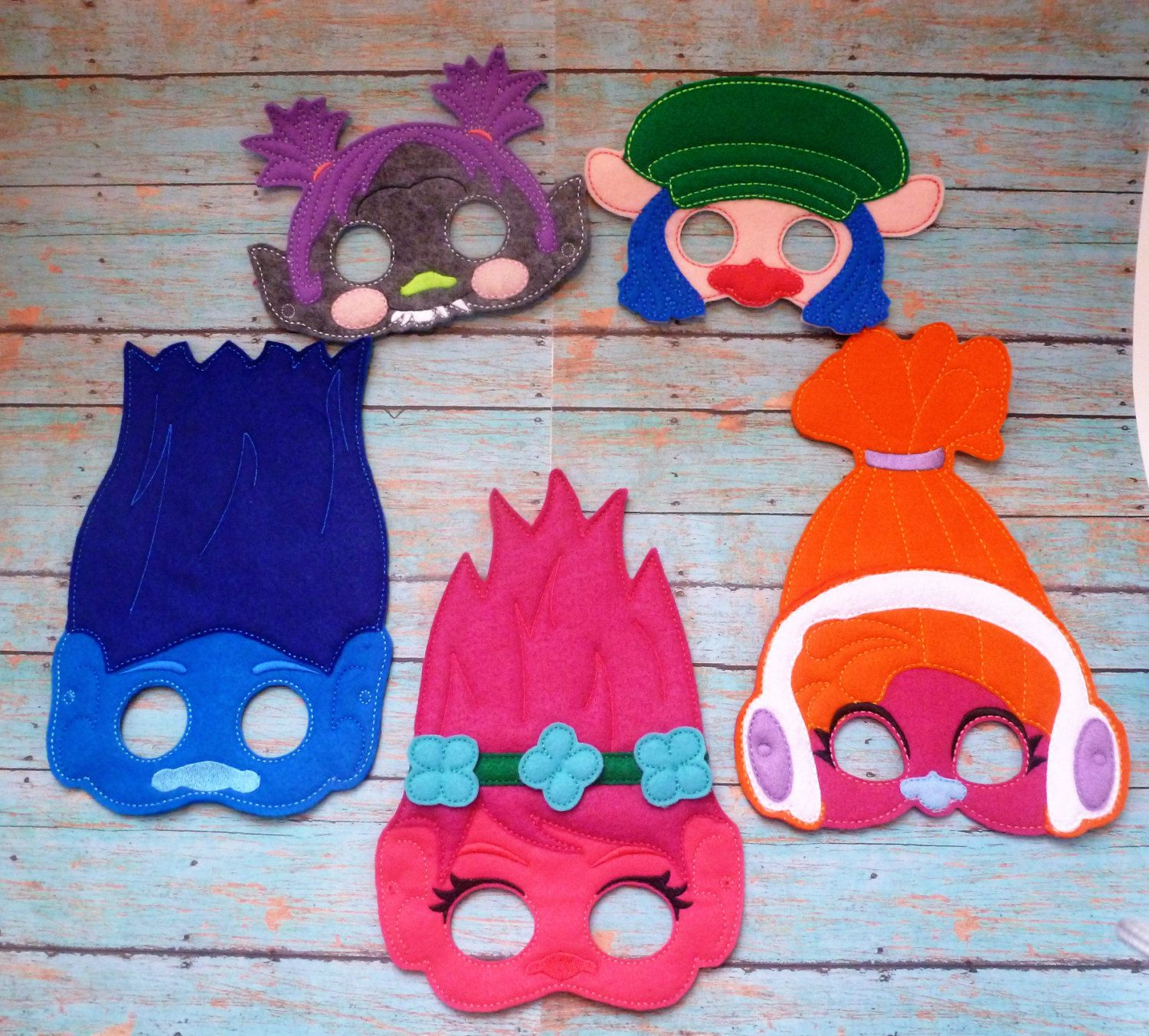Troll Masks!! Different Characters! Children Sized! Also have ...