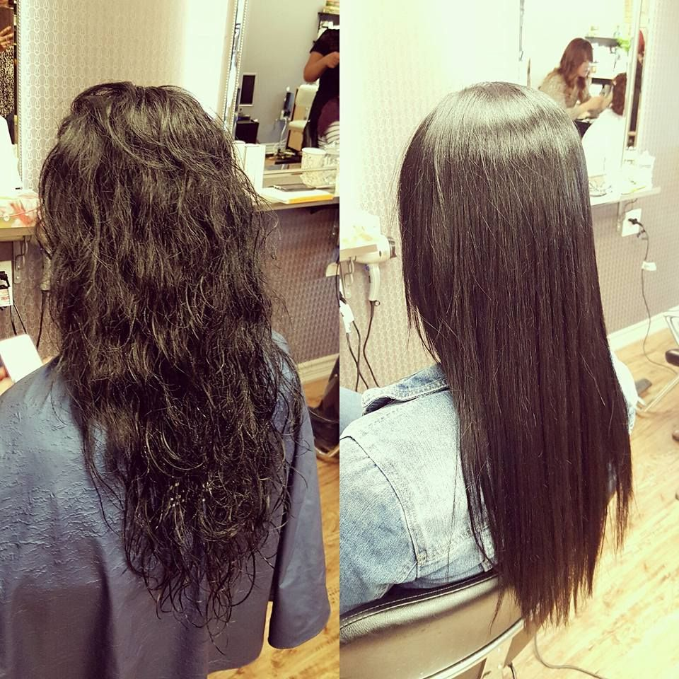 Straight perm and dying hair - She Got The Permanent Perm By Japanese Straight Perm