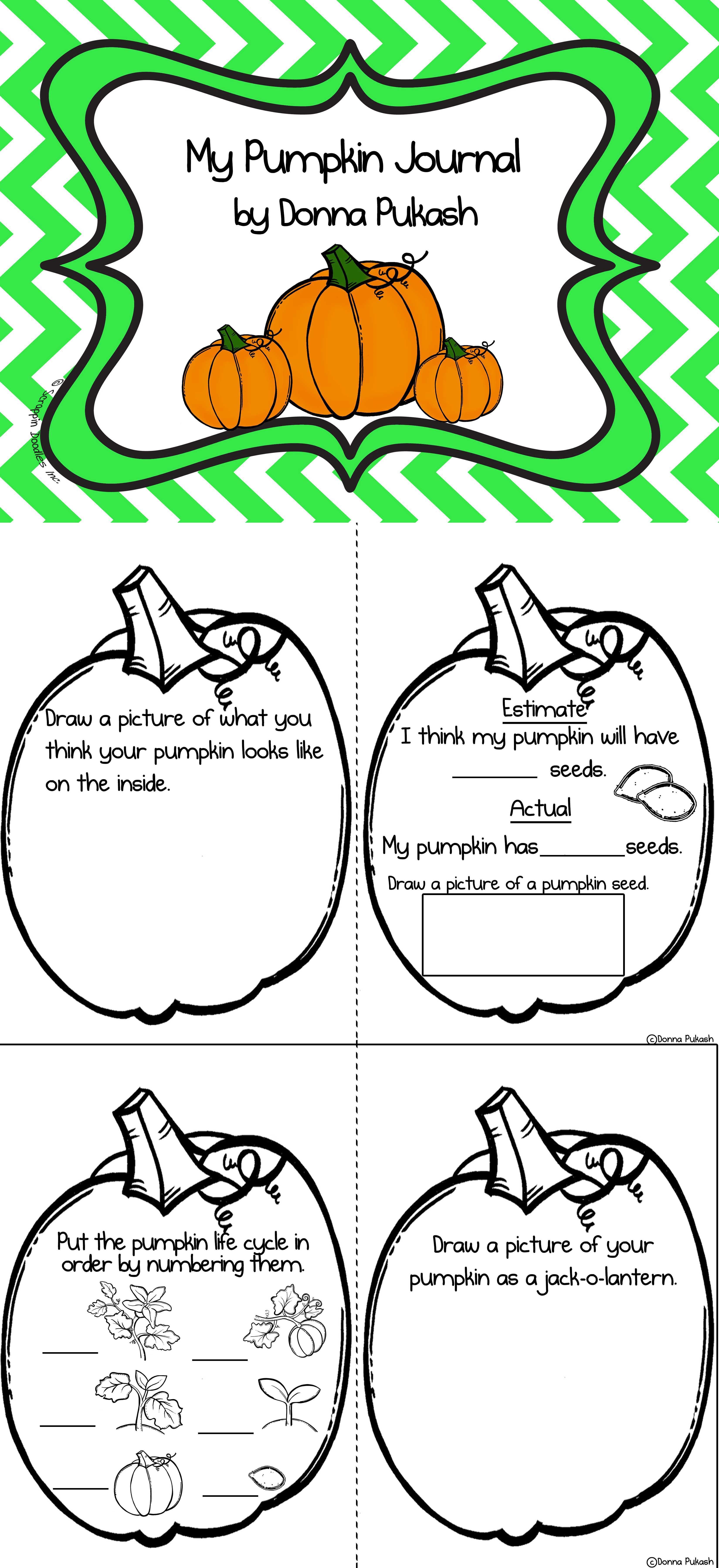 My Pumpkin Journal October Activity Fall Kindergarten October Activities Pumpkin Lessons [ 7200 x 3300 Pixel ]