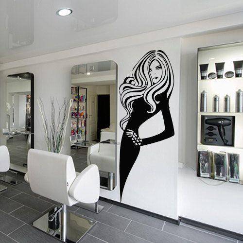 salones de belleza salon belleza mesa manicure espejos negocio proyectos colores negros etiquetas de la pared arte de la pared