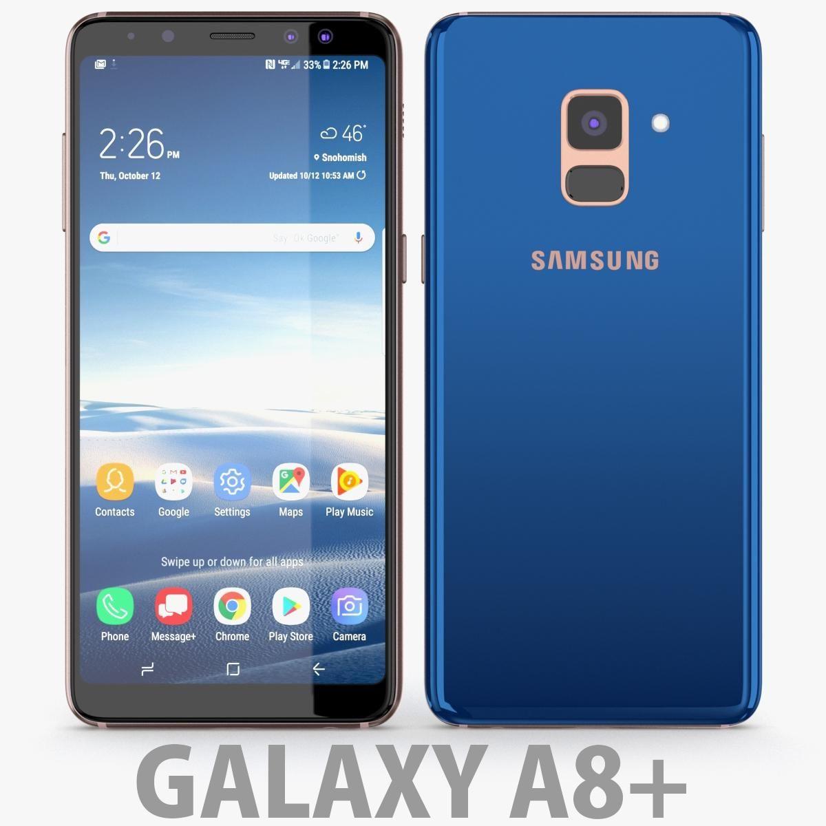 Samsung Galaxy A8 Plus 2018 Blue 3d Model Ad Galaxy Samsung Model Blue Samsung Galaxy Galaxy Visual Design Trends