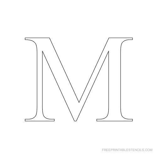 free letter m stencils to print  Alphabet Stencils to Print Times