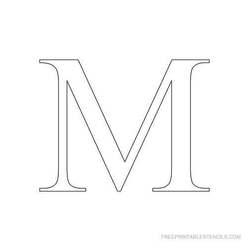 Free Letter M Stencils To Print Alphabet Stencils To Print