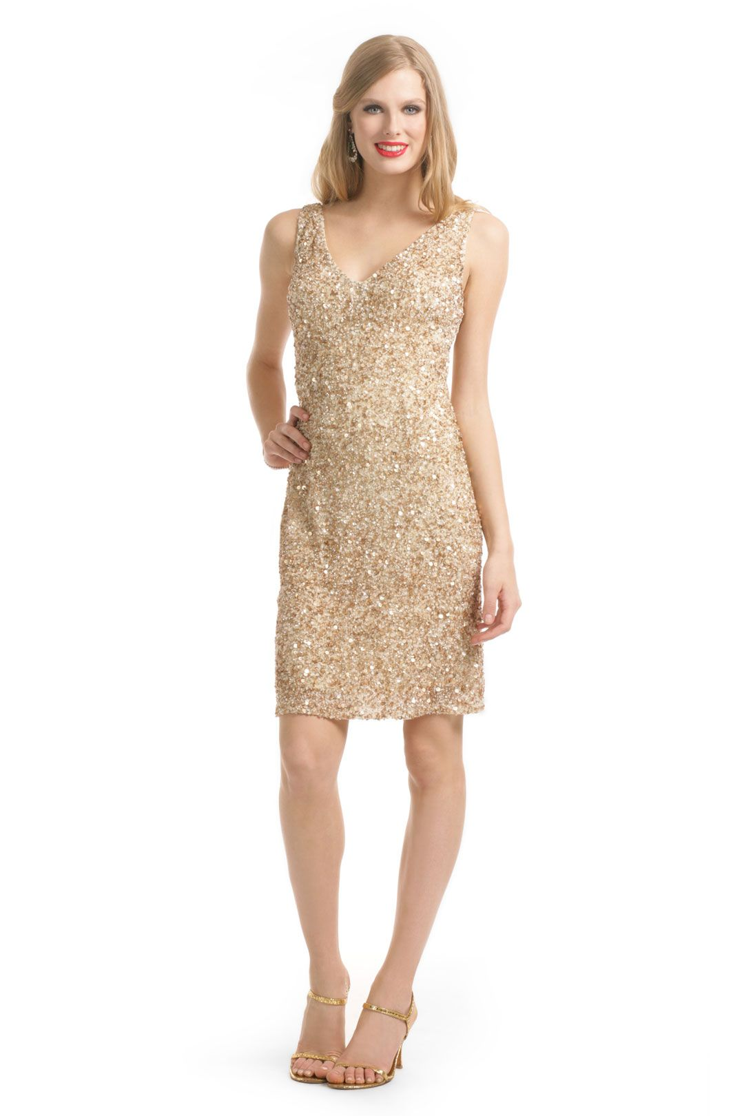 Theia Dipped in Vanilla Dress | Sparkly dresses | Pinterest