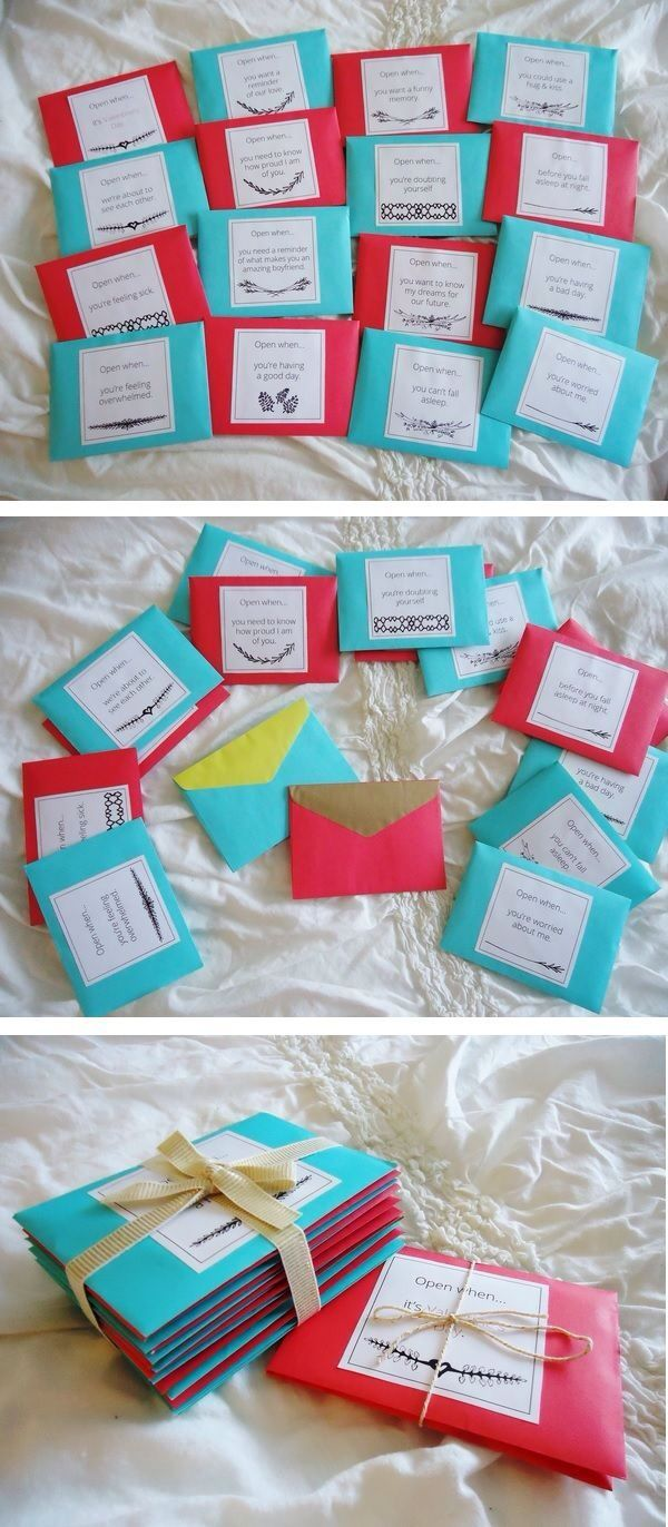 Read when letters  Anniversary  Pinterest  Gift Boyfriends and