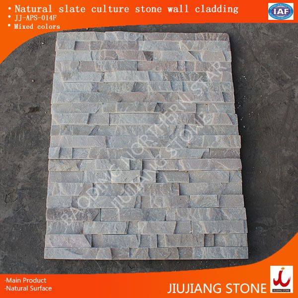 Decorative Outdoor Wall Tiles Unique Mixed Colorsstone Veneer With Smooth Surface For Wall Designs Review
