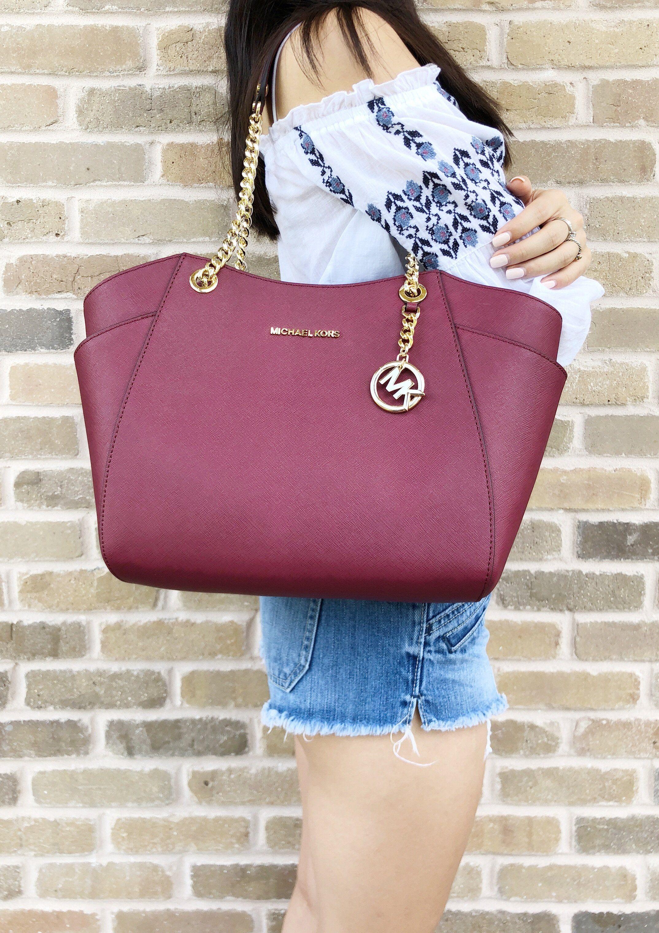 6622677db827 Michael Kors Jet Set Travel Chain Shoulder Tote Bag Mulberry  MK  Handbags   MichaelKors