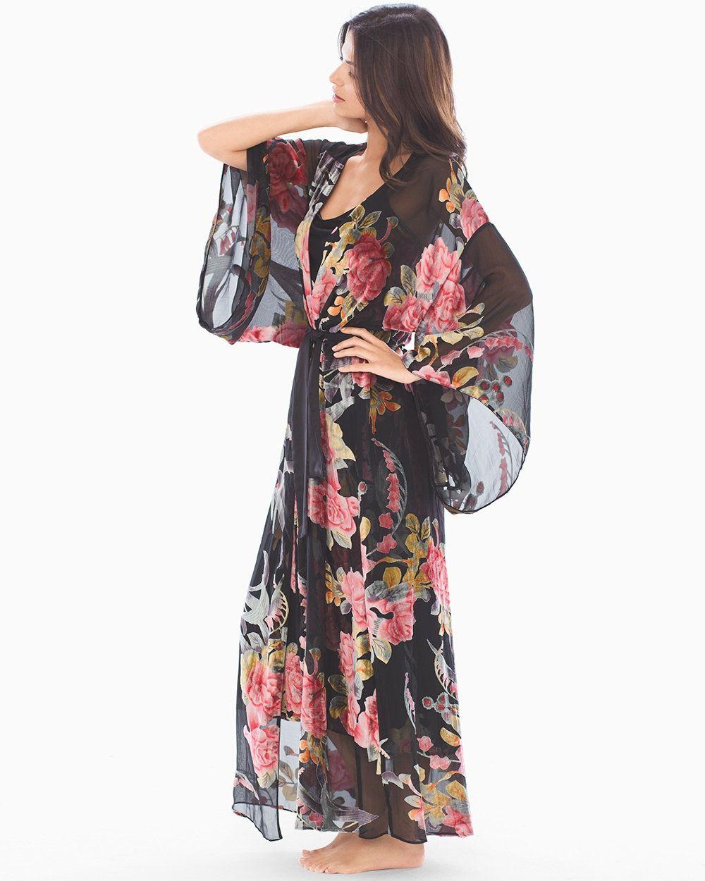 Soma Intimates Velvet Burnout Long Robe  b68ddfb2c