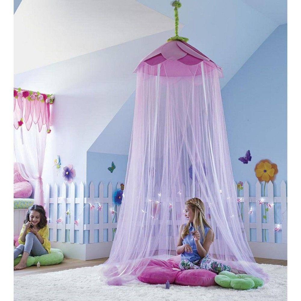 Secret Garden Gauze Hideaway Canopy For Kids Rooms Purple